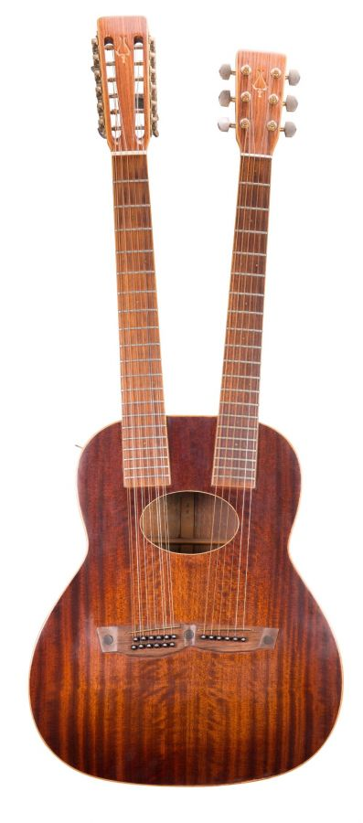 Lot Number 241. 1980 Daion '80 12 & 6 double neck acoustic guitar, made in Japan, ser. no. 1xxxx2. Auctioned at The Guitar Auction on 11th March 2020