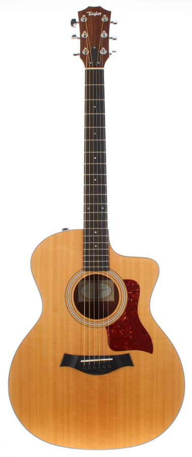 Lot Number 344. 2018 Taylor 214CE electro-acoustic guitar, made in USA, ser. no. 2108266371. Auctioned at The Guitar Auction on 11th March 2020