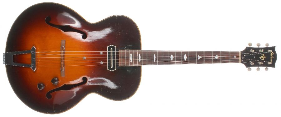 Lot Number 194. 1940 Gibson L4 to ES250 conversion electric archtop guitar. Auctioned at The Guitar Auction on 9th September 2020