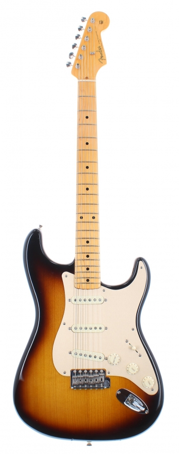 Lot Number 314. Fender American Vintage Reissue '57 Stratocaster electric guitar, made in USA, circa 2004, ser. no. V1xxxx3. Auctioned at The Guitar Auction on 9th December 2020