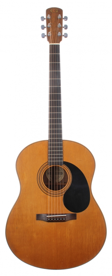 Lot Number 409. John Renbourn - 1977 Michael Gurian J-R acoustic guitar, made in USA, ser. no. C2927. Auctioned at The Guitar Auction on 9th December 2020