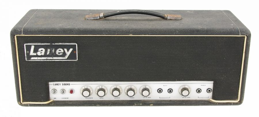 Lot Number 502. Pete Overend Watts (Mott the Hoople) - 1970s Laney Sound 60 watt guitar amplifier head, ser. no. 3240. Auctioned at Entertainment Memorabilia, Guitar Amps & Effects on 12th March 2020