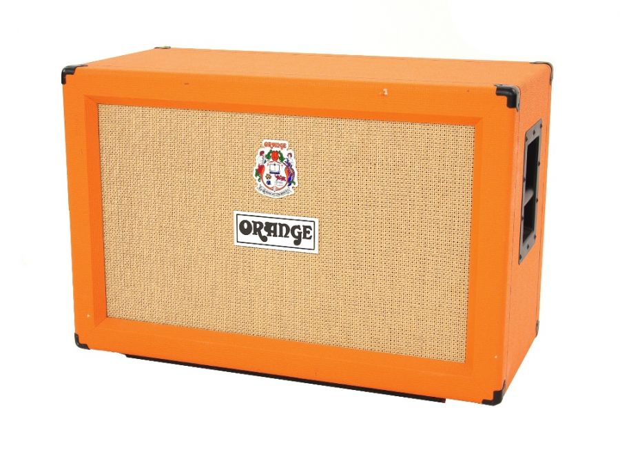 Lot Number 617. Orange Amplification PPC212 guitar amplifier speaker cabinet, made in England. Auctioned at Entertainment Memorabilia, Guitar Amps & Effects on 12th March 2020