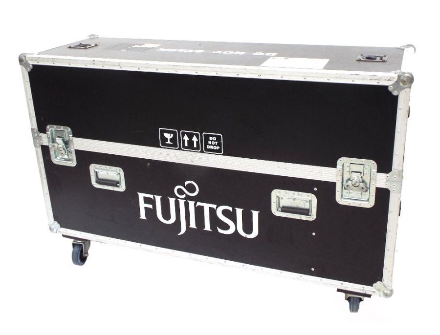 Lot Number 804. Good quality flight case on wheels, historically used for the safe transportation of multiple guitars, 146cm wide, 49cm deep, 95cm high (including wheels). Auctioned at Entertainment Memorabilia, Guitar Amps & Effects on 12th March 2020