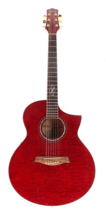 Lot Number 180. 2008 Ibanez EW35QME-TBC-1201 electro-acoustic guitar, made in China, ser. no. SQ08xxxxx2. Auctioned at The Guitar Auction on 25th June 2020
