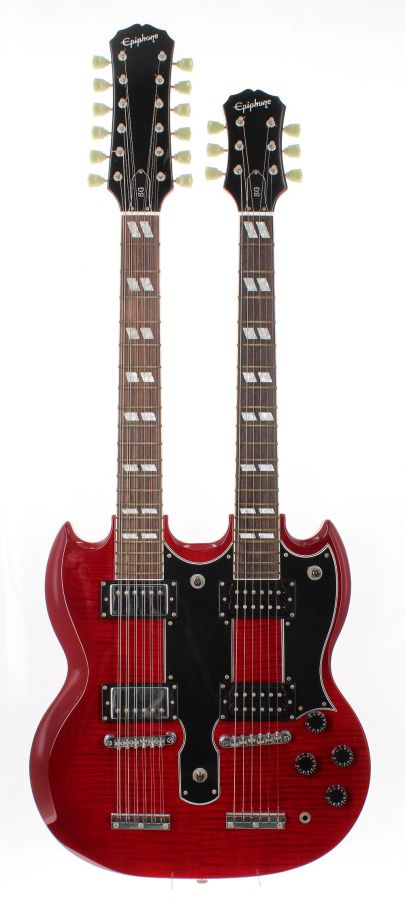 Lot Number 53. 2005 Epiphone G-1275 12/6 doubleneck electric guitar, made in Korea, U05xxxx75. Auctioned at The Guitar Auction on 25th June 2020