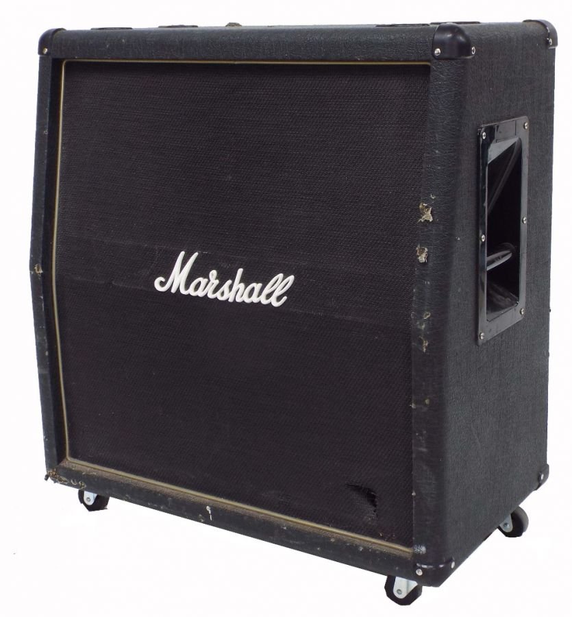 Lot Number 557. 2002 Marshall model AVT412 4x12 guitar amplifier speaker cabinet. Auctioned at The Guitar Auction on 25th June 2020