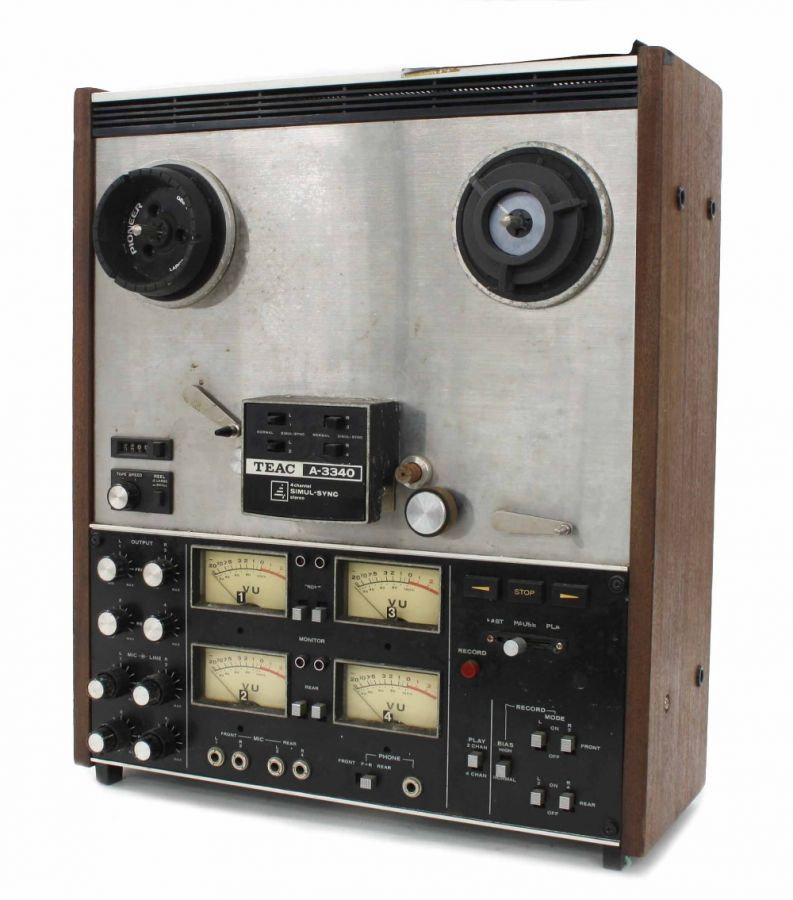 Lot Number 772. TEAC 3340 Four Channel Reel to Reel Tape Recorder, ser. no. 124406. Auctioned at The Guitar Auction on 25th June 2020