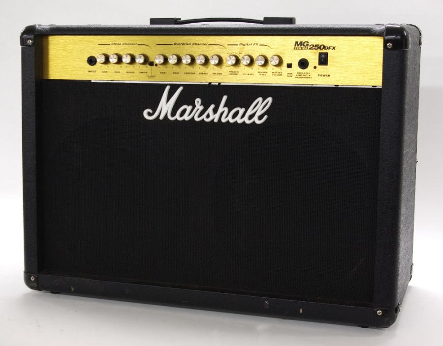 Lot Number 509. 2002 Marshall MG250 DFX guitar amplifier, made in India, ser. no. I-2002-45-1017-H. Auctioned at Entertainment Memorabilia, Guitar Amps & Effects on 10th September 2020