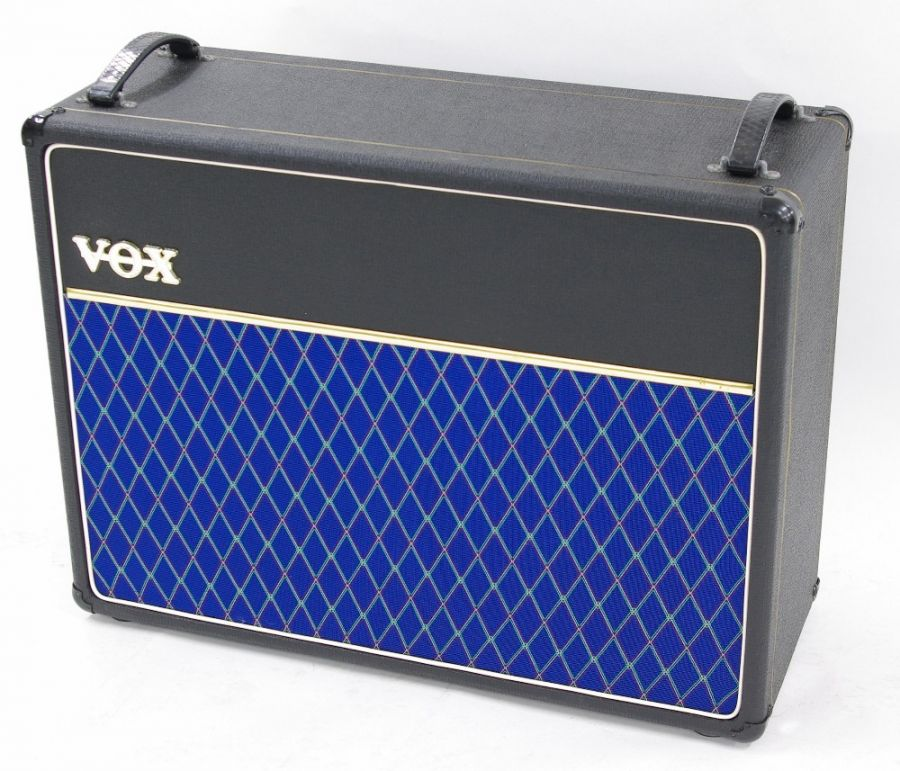 Lot Number 518. Vox 2 x 12 guitar amplifier speaker cabinet. Auctioned at Entertainment Memorabilia, Guitar Amps & Effects on 10th September 2020