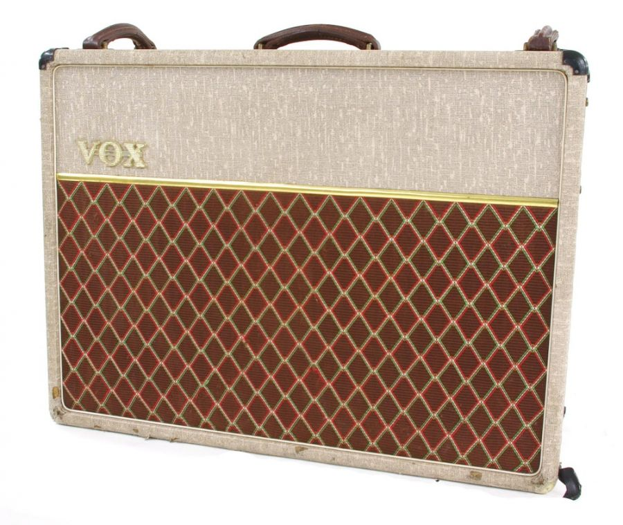 Lot Number 525. 1991 Vox AC30 Top Boost Limited Edition 30th Anniversary (1960-1990) guitar amplifier, made in England, ser. no. 0340, fawn tolex (working although vibrato currently not functioning). Auctioned at Entertainment Memorabilia, Guitar Amps & Effects on 10th September 2020