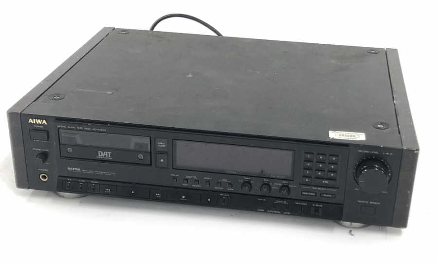 Lot Number 1035. Aiwa XD-S110 digital audio tape deck unit. Auctioned at Entertainment Memorabilia, Guitar Amps & Effects - Including The Bernie Marsden Collection: Part I on 10th December 2020