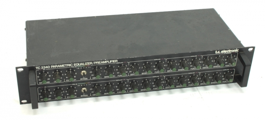 Lot Number 1044. T.C Electronic TC2240 parametric equalizer/preamplifier, made in Denmark, ser. no. 291877. Auctioned at Entertainment Memorabilia, Guitar Amps & Effects - Including The Bernie Marsden Collection: Part I on 10th December 2020