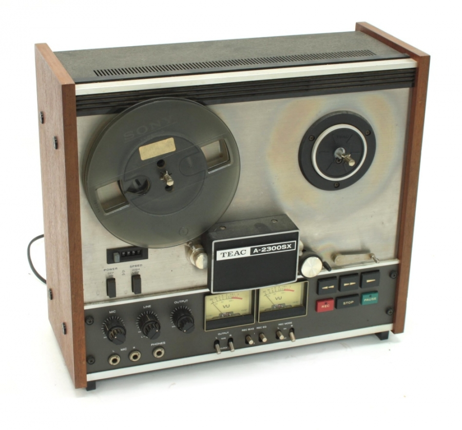 Lot Number 1060. Teac A-2300SX two track reel-to-reel tape recorder, made in Japan, ser. no. 290549. Auctioned at Entertainment Memorabilia, Guitar Amps & Effects - Including The Bernie Marsden Collection: Part I on 10th December 2020
