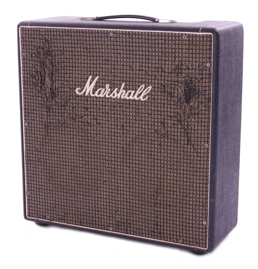Lot Number 504. Bernie Marsden - 1974 Marshall JMP Lead and Bass 20 2 x 10 combo guitar amplifier, made in England, ser. no. 4174F, enclosing a pair of Celestion 7442 10