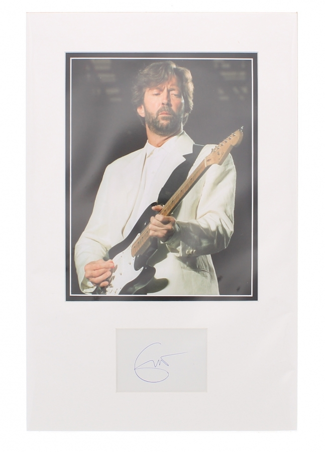 Lot Number 653. Eric Clapton - autographed mounted display, 18.5