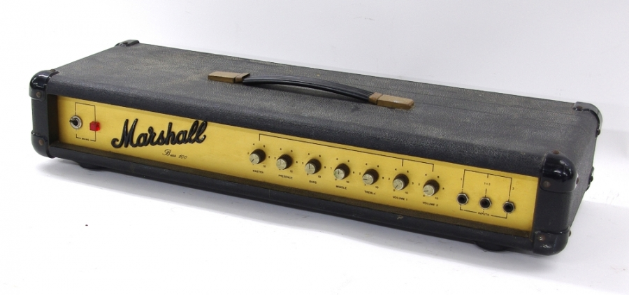 Lot Number 707. WITHDRAWN FROM SALE (PAT failure) 1975 Marshall model 2099 Bass 100 guitar amplifier head, made in England. Auctioned at Entertainment Memorabilia, Guitar Amps & Effects - Including The Bernie Marsden Collection: Part I on 10th December 2020