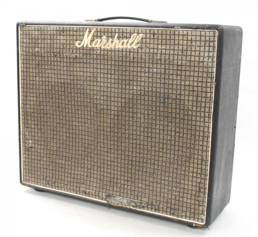 Lot Number 750. Jim Marshall - 1975 Marshall JMP Lead & Bass 50 guitar amplifier, made in USA, fitted with a pair of Celestion G12M 12