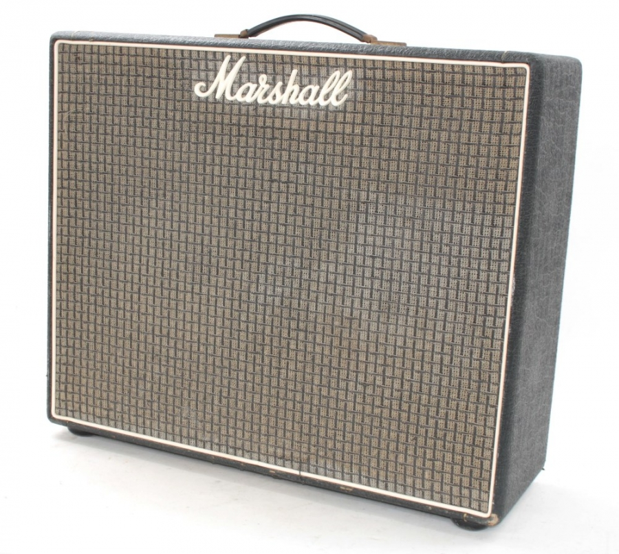 Lot Number 764. 1975 Marshall Lead & Bass 50 combo guitar amplifier, fitted with a pair of Celestion G12M 12