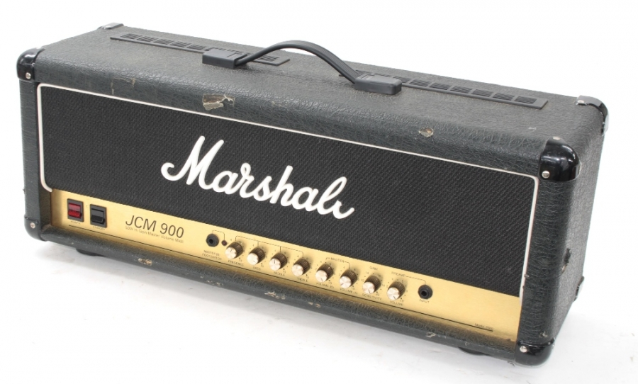 Lot Number 766. Marshall JCM 900 model 2100 50 watt High Gain Master Volume Mark III guitar amplifier head, made in England, circa 1991-92, ser. no. Z20830, dust cover. Auctioned at Entertainment Memorabilia, Guitar Amps & Effects - Including The Bernie Marsden Collection: Part I on 10th December 2020