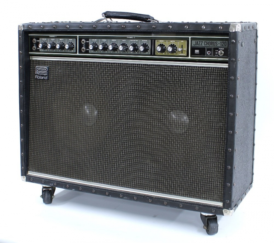 Lot Number 535. 1970s Roland Jazz Chorus-120 guitar amplifier, made in Japan, ser. no. 461309, in need of some servicing. Auctioned at The Guitar Auction Day Two - Amplification, Effects, Guitar Related Items & Audio Equipment  - Online & Absentee bidding only on 11th March 2021