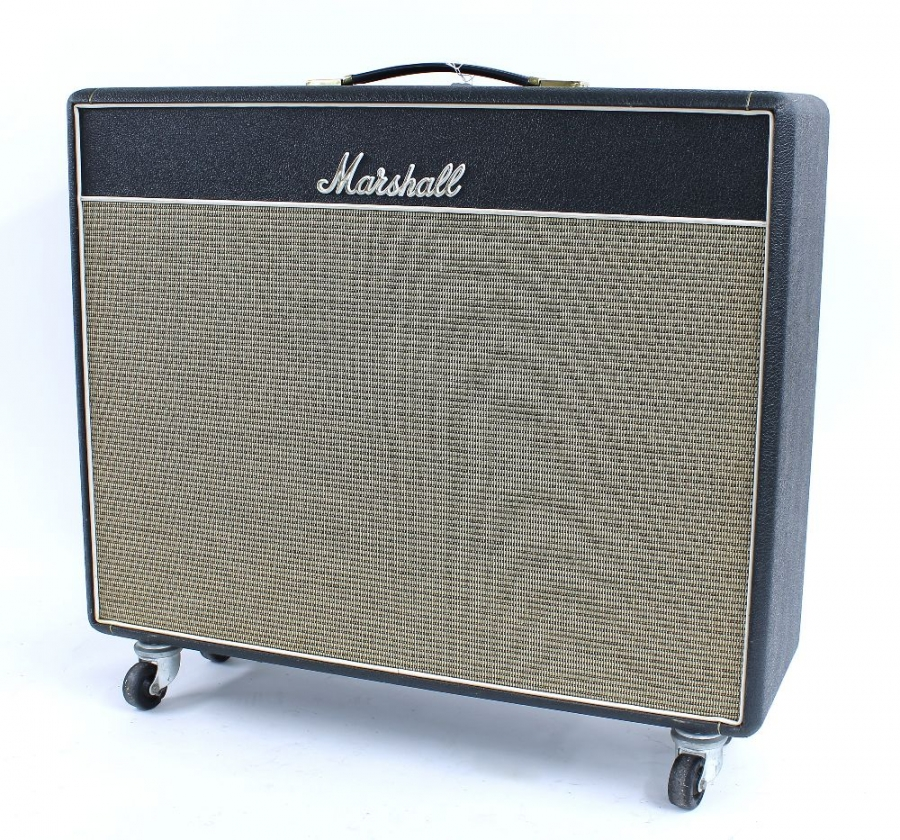 Lot Number 569. 1989 Marshall JTM 45 50 watt 'Bluesbreaker' re-issue 2 x 12 combo guitar amplifier, made in England, ser. no. X00216, tremolo circuit in need of attention, dust cover. Auctioned at The Guitar Auction Day Two - Amplification, Effects, Guitar Related Items & Audio Equipment  - Online & Absentee bidding only on 11th March 2021