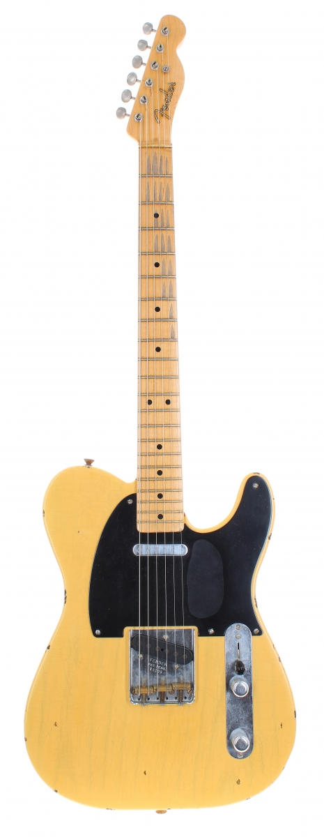 Lot Number 1. 2001 Fender Custom Shop 1951 'Nocaster' Relic electric guitar, made in USA, ser. no. R3xx8. Auctioned at The Guitar Auction on 16th June 2021
