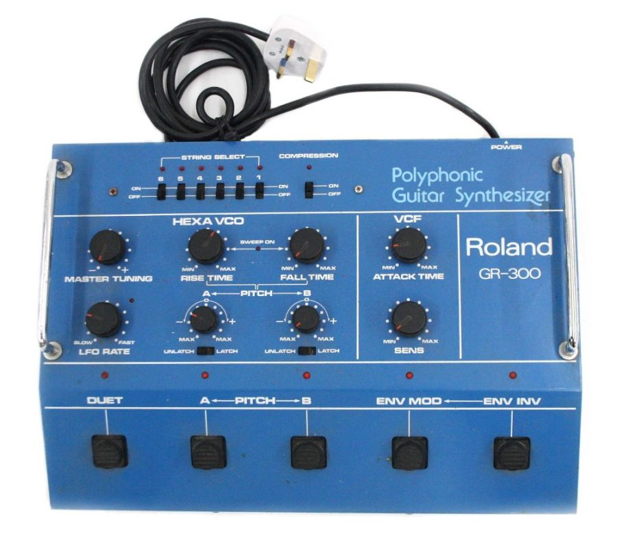 Lot Number 771. Roland GR-300 Polyphonic Guitar Synthesizer, made in Japan, ser. no. 061480. Auctioned at Vinyl, Memorabilia, Guitar Amps, Effects & Audio on 12th September 2019