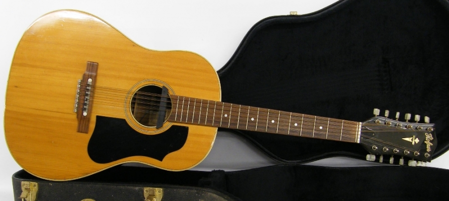 Lot Number 27. �Hofner 5156 Western twelve string acoustic guitar, made in Germany, no. 781. Auctioned at The Guitar Auction on 14th December 2017