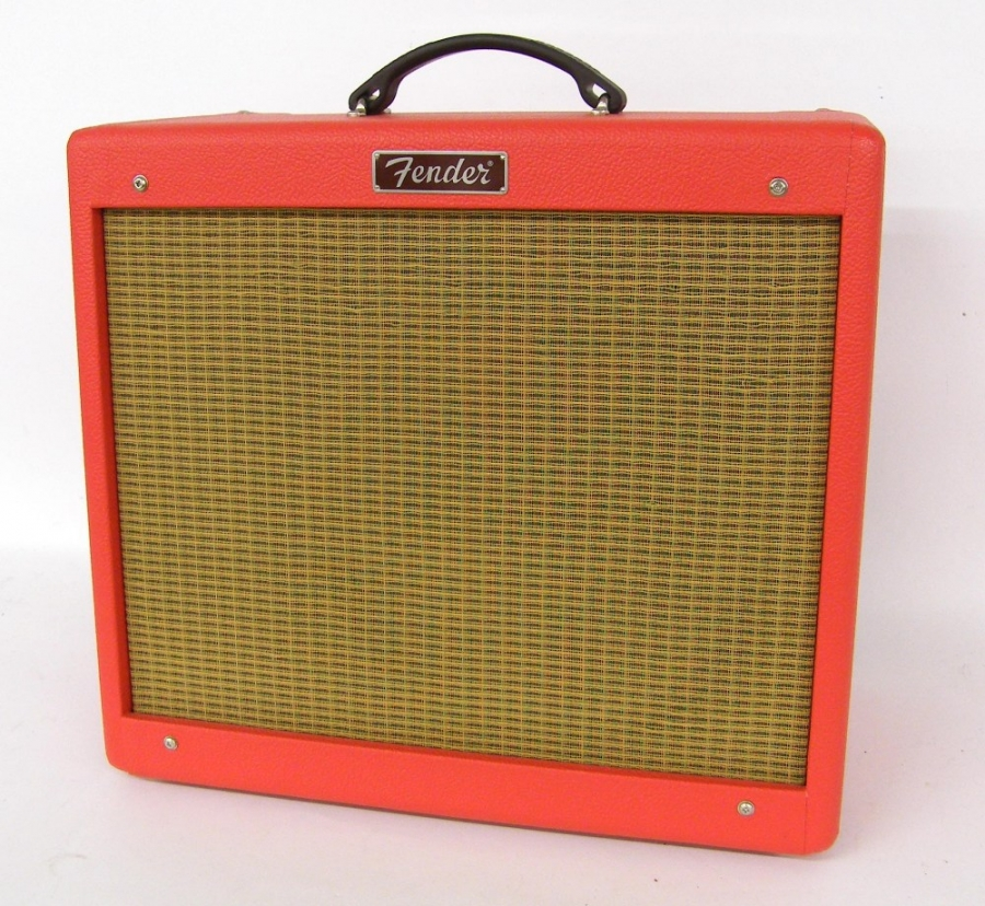 Lot Number 331. Fender limited edition Texas Red Blues-Junior guitar amplifier, made in Mexico, ser. no. B-412438, dust cover. Auctioned at The Guitar Auction on 14th December 2017