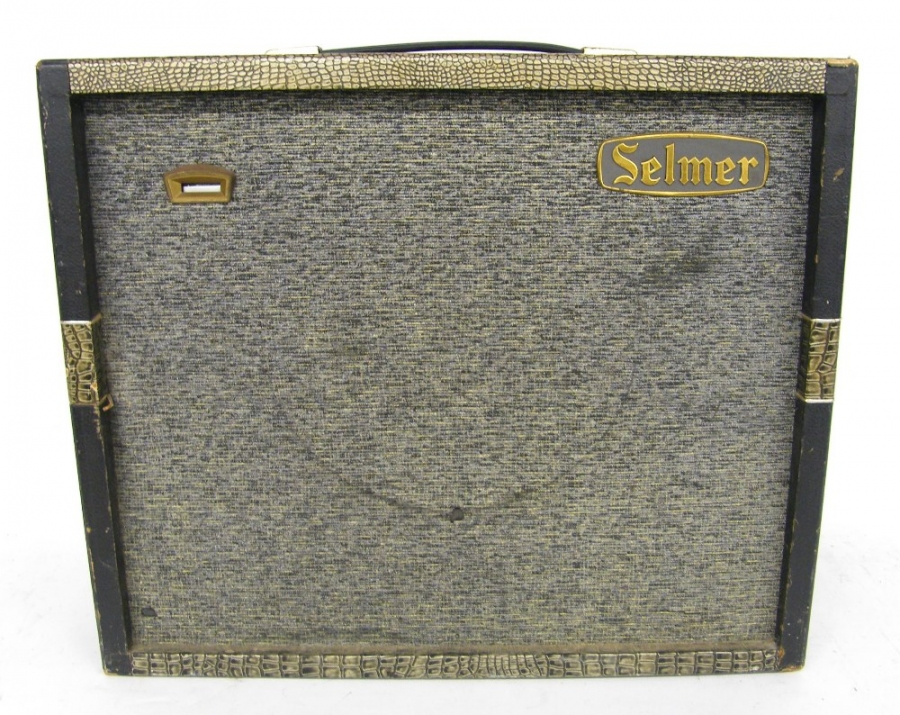 Lot Number 395. Early 1960s Selmer Truvoice Constellation Fourteen guitar amplifier, made in England, ser. no. 10455, blinking eye not functioning. Auctioned at The Guitar Auction on 14th December 2017