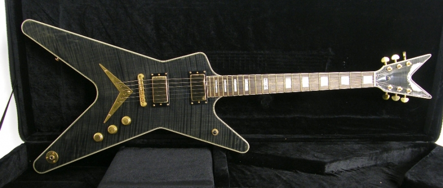 Lot Number 57. �Dean ML Black Gold electric guitar, made in Korea, ser. no. US08xxxx12. Auctioned at The Guitar Auction on 14th December 2017