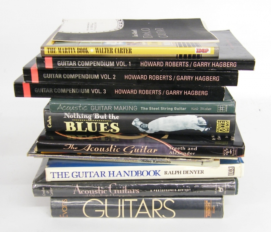 Lot Number 519. Twelve books concerning various aspects of guitars, their history and playing (12). Auctioned at The Guitar Auction - Including the Perry Bamonte (The Cure) Collection on 14th September 2017