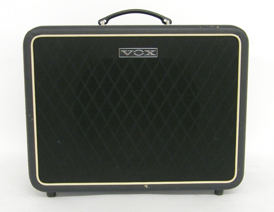 Lot Number 316. Vox V112NT speaker cabinet, with Celestion green back speaker. Auctioned at The Guitar Auction - Including the Mark Griffiths (The Shadows) Collection on 15th June 2017