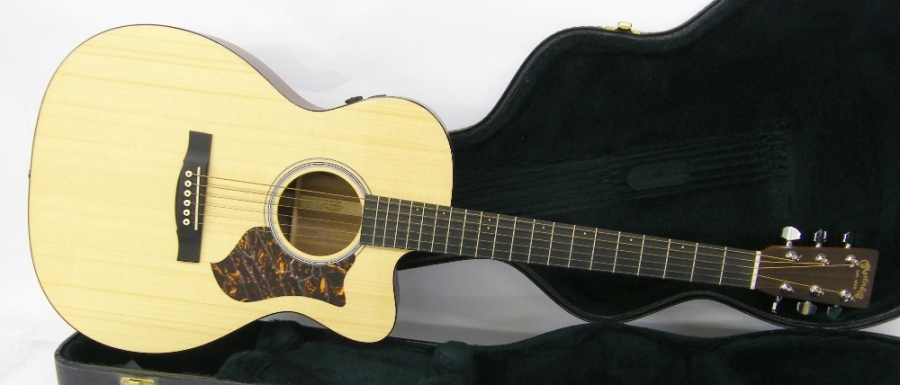 Lot Number 203. 2012 Martin OMCPA4 electro-acoustic guitar, made in USA, ser. no. 1xxxxx8, mahogany back and sides, natural finish top, electrics in working order, hard case, condition: good. Auctioned at The Guitar Auction - Including The Geoff Banks Collection on 16th March 2017