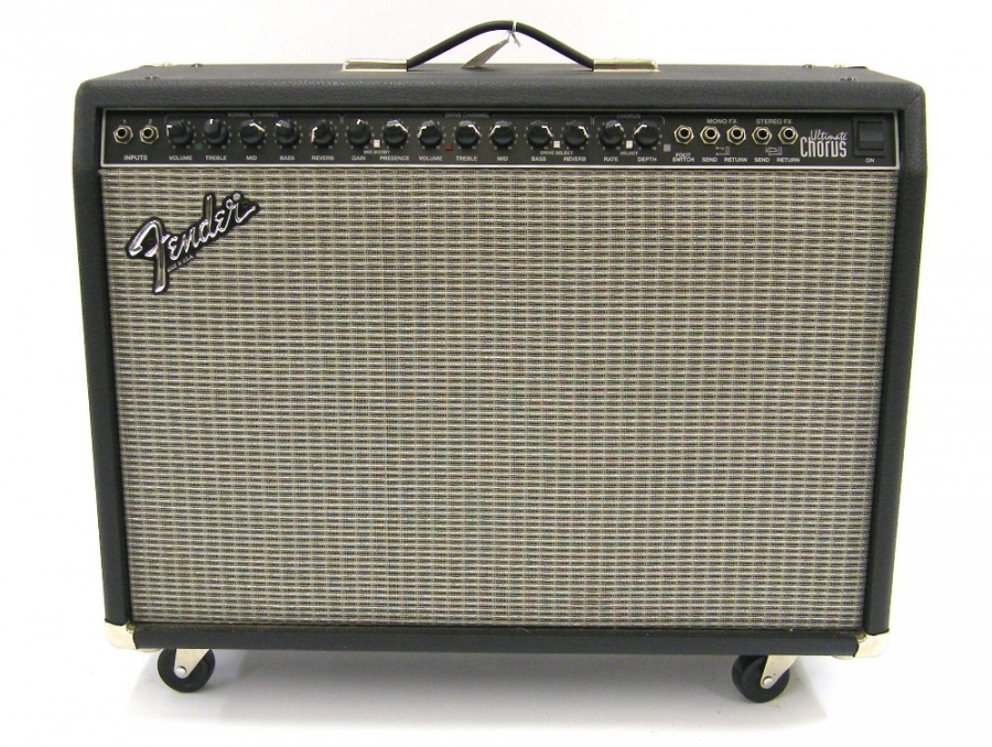 Lot Number 267. Fender Ultimate Chorus guitar amplifier, made in USA, ser. no. CR-147137. Auctioned at The Guitar Auction - Including The Geoff Banks Collection on 16th March 2017