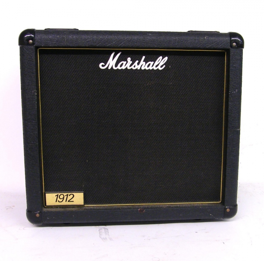 Lot Number 263. Marshall 1912 150 watt 1 x 12 speaker cabinet, serial no.3129, appears to be in working order. Auctioned at The Guitar Auction on 8th December 2016