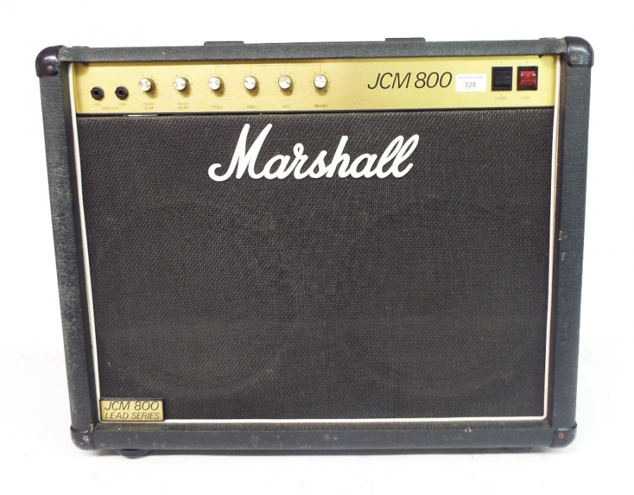 Lot Number 268. 1984 Marshall JCM800 Lead Series guitar amplifier, serial no. S06310, appears to be in working order. Auctioned at The Guitar Auction on 8th December 2016