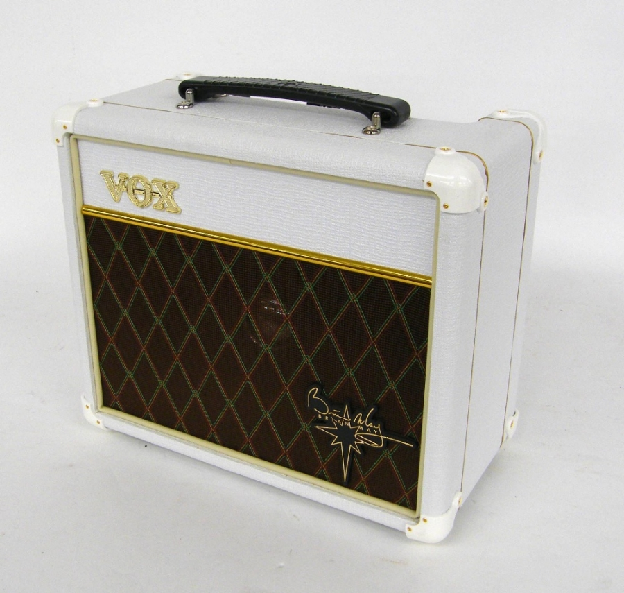 Lot Number 313. Vox Brian May Special VBM1 guitar amplifier, ser. no. 006144, appears to be in working order, owner's manual and soft cover. Auctioned at The Guitar Auction on 10th December 2015