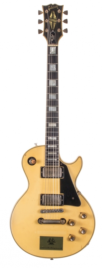 Lot Number 100. Huw Lloyd-Langton - 1974 Gibson Les Paul Custom 20th Anniversary electric guitar, made in USA, ser. no. 397846. Auctioned at The Guitar Sale - Including The Pete Overend Watts & Huw Lloyd Langton Collections on 13th March 2019