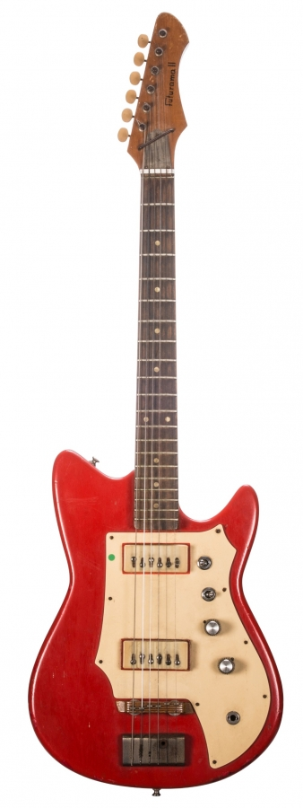Lot Number 13. Pete Overend Watts (Mott the Hoople) - 1960s Futurama II electric guitar, ser. no. 1004. Auctioned at The Guitar Sale - Including The Pete Overend Watts & Huw Lloyd Langton Collections on 13th March 2019