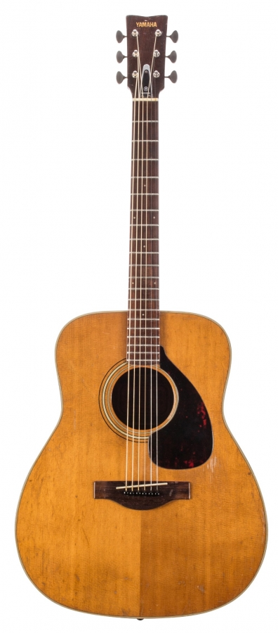 Lot Number 277. 1970s Yamaha FG-180 red label acoustic guitar, made in Japan. Auctioned at The Guitar Sale - Including The Pete Overend Watts & Huw Lloyd Langton Collections on 13th March 2019
