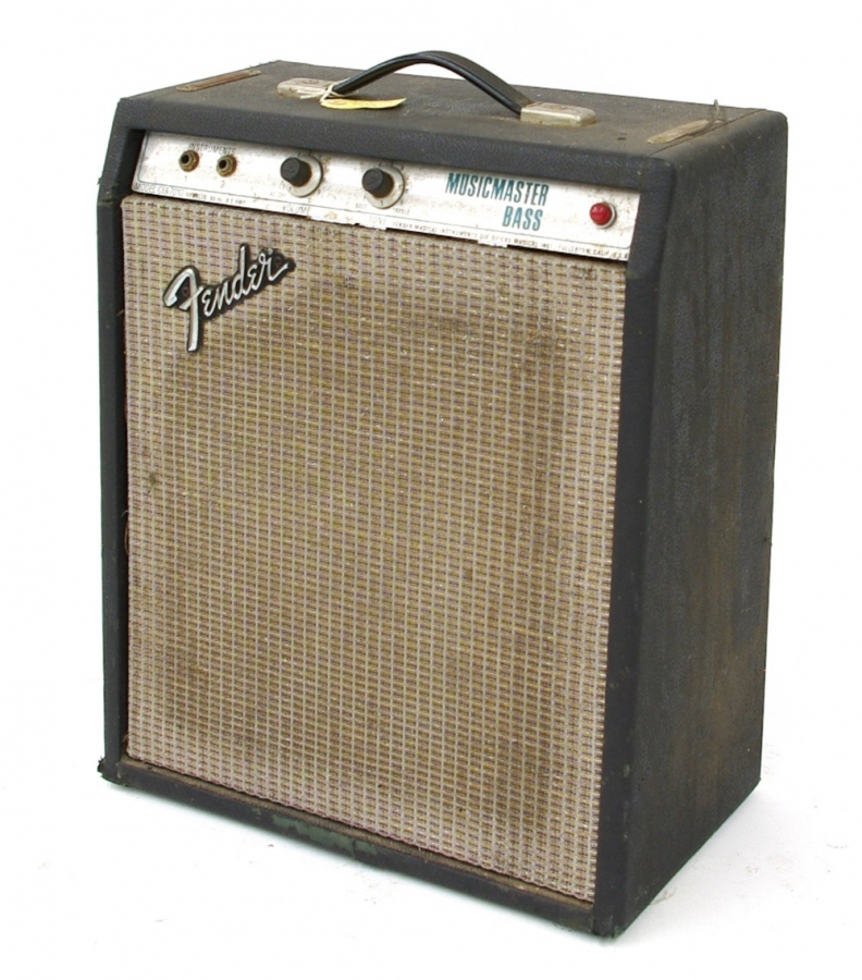 Lot Number 602. Pete Overend Watts (Mott the Hoople) - 1970s tour used Fender Musicmaster Bass guitar amplifier, ser. no. A08277 (US voltage and untested) *Used by Mott the Hoople as a tune-up amp in every dressing room. Auctioned at Memorabilia, Guitar Amps, Effects & Audio Including the Pete Overend Watts Collection on 14th March 2019