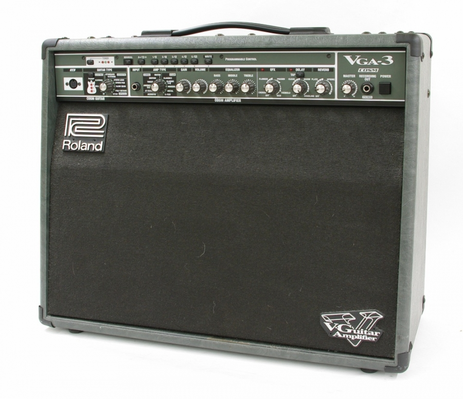 Lot Number 667. Roland VGA-3 guitar amplifier, made in USA, ser. no. ZR22007. Auctioned at Memorabilia, Guitar Amps, Effects & Audio Including the Pete Overend Watts Collection on 14th March 2019