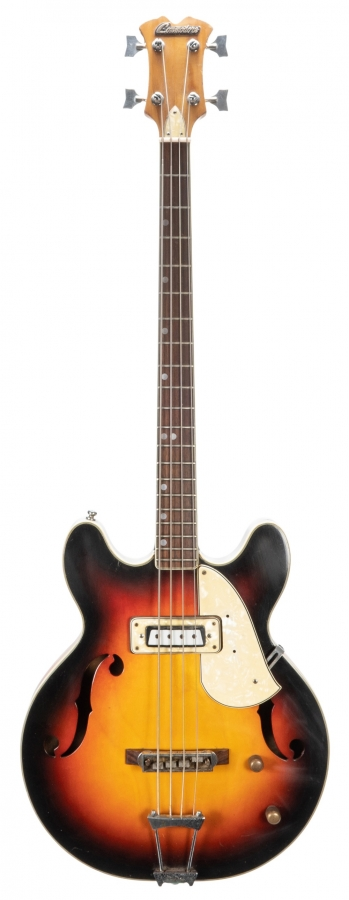 Lot Number 11. Commodore model 181 hollow body bass guitar, made in Japan, circa 1970. Auctioned at The Guitar Sale on 12th June 2019