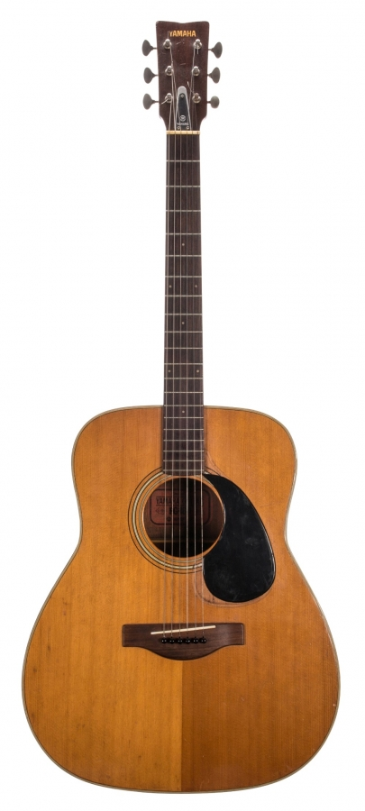 Lot Number 203. 1970s Yamaha FG-180 Red Label acoustic guitar, made in Japan. Auctioned at The Guitar Sale on 12th June 2019