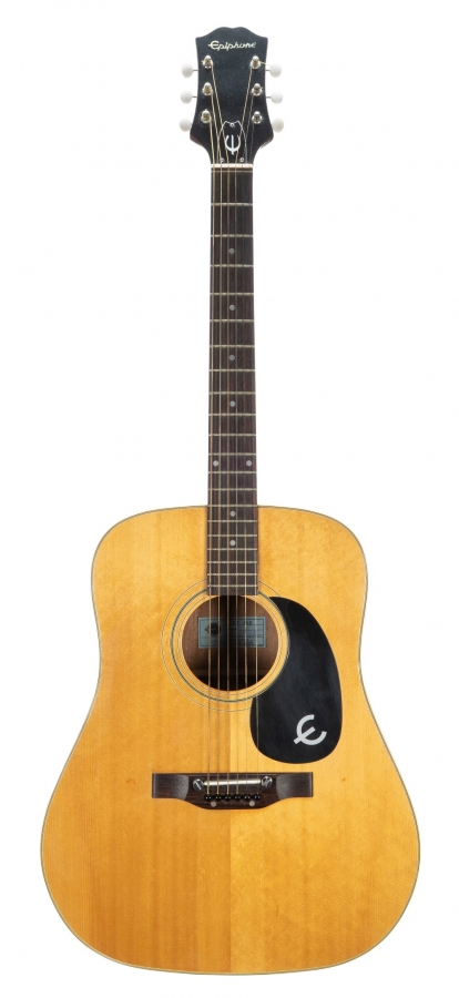 Lot Number 44. 1970s Epiphone FT-145 Texan acoustic guitar, made in Japan, ser. no. 3xxxx5. Auctioned at The Guitar Sale on 12th June 2019