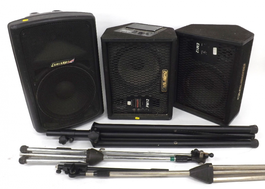 Lot Number 1030. Carlsbro Gamma 12/300 active PA speaker. Auctioned at Memorabilia, Guitar Amps, Effects & Audio on 13th June 2019