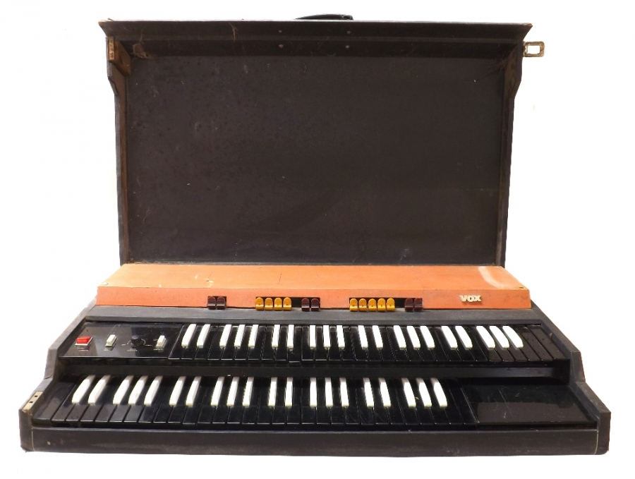 Lot Number 1049. 1960s Vox Continental II TC/2M organ in original non-restored condition, serial no. 05014 (legs missing) * Found languishing in a disused bingo hall in Sheffield, formerly the site of the famous