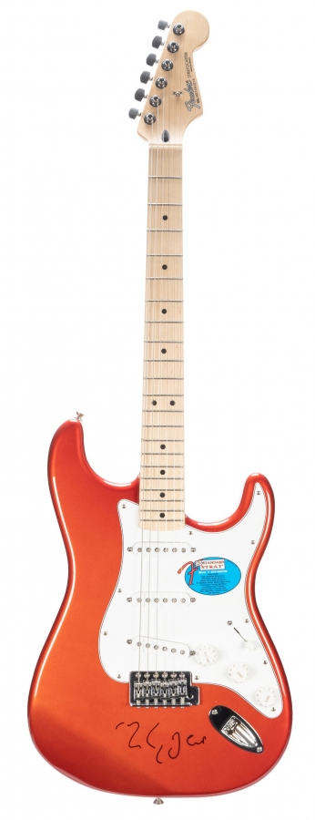 Lot Number 603. Mark Knopfler - autographed 2007 Fender Stratocaster electric guitar, made in Mexico, ser. no. MZ7093014. Auctioned at Memorabilia, Guitar Amps, Effects & Audio on 13th June 2019
